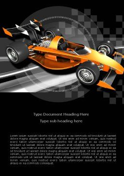 Racer Word Template, Cover Page, 08084, Sports — PoweredTemplate.com