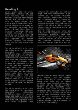 Racer Word Template, First Inner Page, 08084, Sports — PoweredTemplate.com