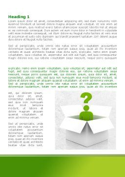 Question Man Word Template, First Inner Page, 08088, Consulting — PoweredTemplate.com
