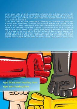 Fists Together Word Template, Cover Page, 08090, Religious/Spiritual — PoweredTemplate.com