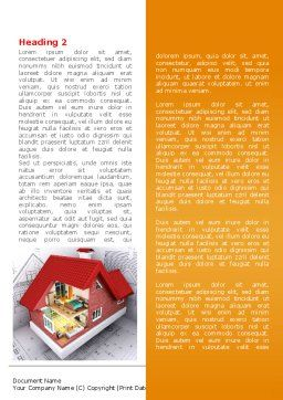 House Model Creation Word Template, First Inner Page, 08092, Construction — PoweredTemplate.com
