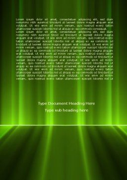 Green Horizon Word Template, Cover Page, 08095, Technology, Science & Computers — PoweredTemplate.com