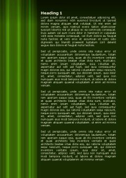 Green Horizon Word Template, First Inner Page, 08095, Technology, Science & Computers — PoweredTemplate.com