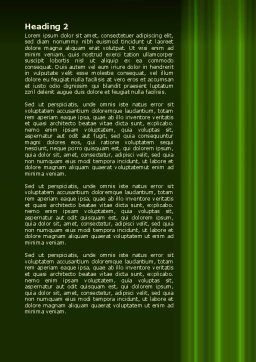 Green Horizon Word Template, Second Inner Page, 08095, Technology, Science & Computers — PoweredTemplate.com