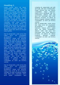 Water Bubbles Word Template, First Inner Page, 08098, Nature & Environment — PoweredTemplate.com