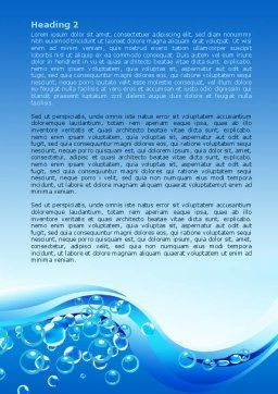 Water Bubbles Word Template, Second Inner Page, 08098, Nature & Environment — PoweredTemplate.com