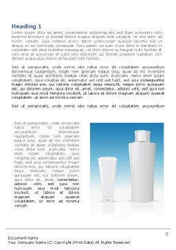 Toiletries Word Template, First Inner Page, 08105, Careers/Industry — PoweredTemplate.com