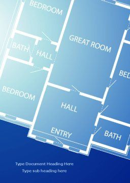 Room Layout Planning Word Template, Cover Page, 08106, Construction — PoweredTemplate.com