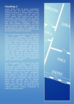 Room Layout Planning Word Template, Second Inner Page, 08106, Construction — PoweredTemplate.com