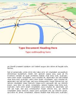 Road Map Word Template Cover Page