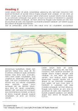 Road Map Word Template First Inner Page