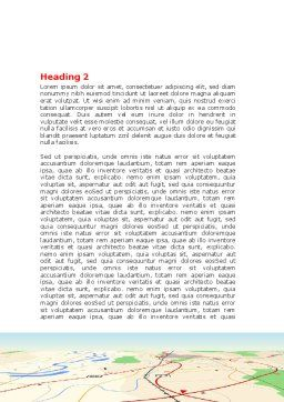 Road Map Word Template Second Inner Page