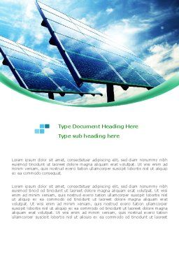 Solar Panels In Blue Colors Word Template Cover Page