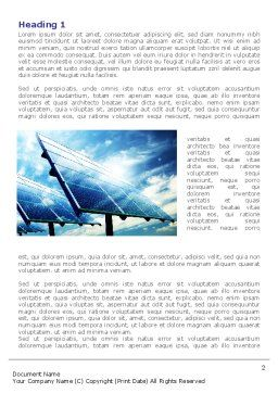 Solar Panels In Blue Colors Word Template First Inner Page