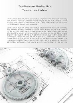 Engineering Drawing Word Template, Cover Page, 08114, Construction — PoweredTemplate.com