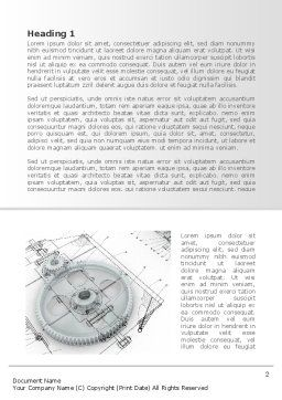 Engineering Drawing Word Template, First Inner Page, 08114, Construction — PoweredTemplate.com