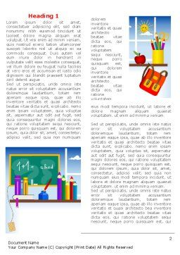 Primary Schooling Word Template First Inner Page