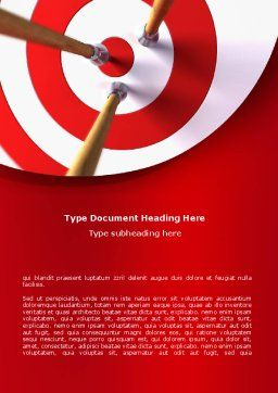 Red Target Word Template, Cover Page, 08116, Business Concepts — PoweredTemplate.com