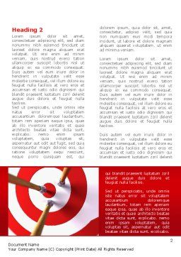 Red Target Word Template First Inner Page