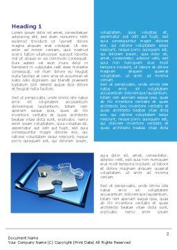 Jigsaw Sketch Word Template, First Inner Page, 08117, Consulting — PoweredTemplate.com