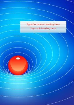 Space-Time Distortion Word Template, Cover Page, 08119, Education & Training — PoweredTemplate.com