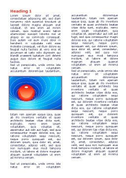Space-Time Distortion Word Template, First Inner Page, 08119, Education & Training — PoweredTemplate.com
