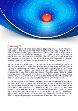 Space-Time Distortion Word Template, Second Inner Page, 08119, Education & Training — PoweredTemplate.com