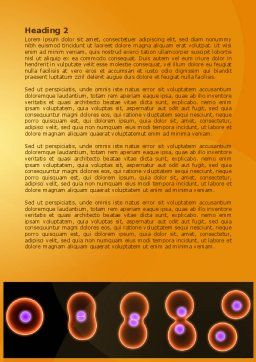 Cell Amitosis Word Template, Second Inner Page, 08121, Medical — PoweredTemplate.com