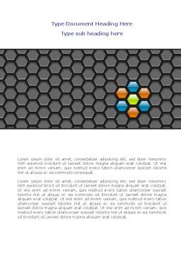 Abstract Gray Honeycomb Word Template, Cover Page, 08122, Business — PoweredTemplate.com