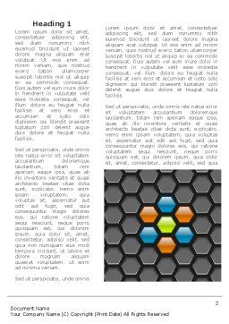 Abstract Gray Honeycomb Word Template, First Inner Page, 08122, Business — PoweredTemplate.com