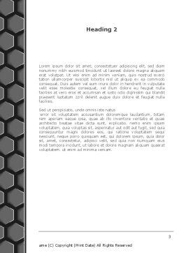 Abstract Gray Honeycomb Word Template, Second Inner Page, 08122, Business — PoweredTemplate.com