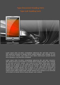 Touchscreen Phone Word Template, Cover Page, 08125, Technology, Science & Computers — PoweredTemplate.com