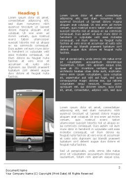 Touchscreen Phone Word Template, First Inner Page, 08125, Technology, Science & Computers — PoweredTemplate.com