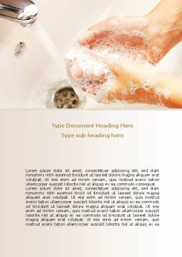 Hand Washing Word Template Cover Page