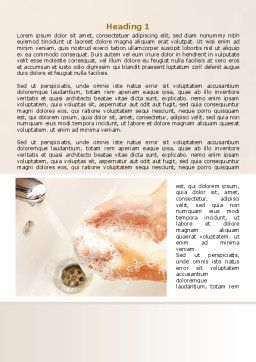 Hand Washing Word Template, First Inner Page, 08126, Medical — PoweredTemplate.com