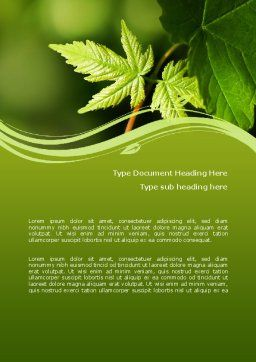 Forest Leaf Word Template, Cover Page, 08128, Nature & Environment — PoweredTemplate.com