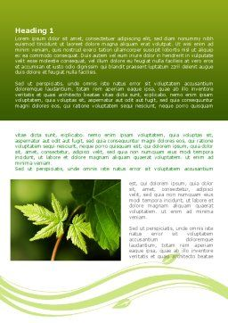 Forest Leaf Word Template, First Inner Page, 08128, Nature & Environment — PoweredTemplate.com