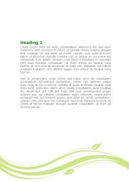 Forest Leaf Word Template, Second Inner Page, 08128, Nature & Environment — PoweredTemplate.com