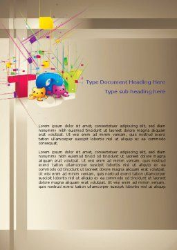 Toy Theme Word Template, Cover Page, 08129, Careers/Industry — PoweredTemplate.com
