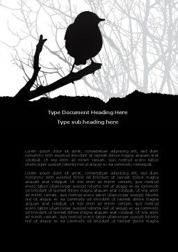Bird on Branch Word Template, Cover Page, 08131, Agriculture and Animals — PoweredTemplate.com