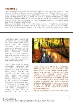 Autumn Forest Word Template First Inner Page