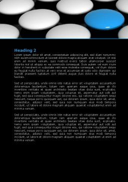 Blue Button Word Template, Second Inner Page, 08136, Consulting — PoweredTemplate.com