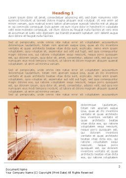 Moonlit Quay Word Template First Inner Page