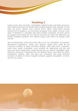 Moonlit Quay Word Template Second Inner Page