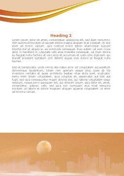 Moonlit Quay Word Template, Second Inner Page, 08138, Art & Entertainment — PoweredTemplate.com