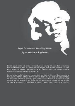 Marilyn Monroe Word Template, Cover Page, 08142, People — PoweredTemplate.com