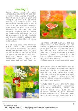 Flower Varieties Word Template First Inner Page