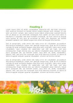 Flower Varieties Word Template Second Inner Page