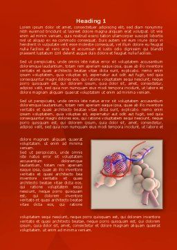 Alveoli Word Template, First Inner Page, 08145, Medical — PoweredTemplate.com