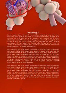 Alveoli Word Template, Second Inner Page, 08145, Medical — PoweredTemplate.com